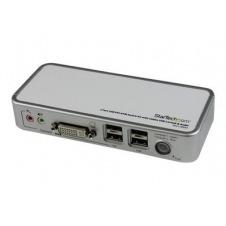 StarTech.com Juego de Conmutador KVM de 2 puertos con todo incluido - USB - Audio y Vídeo DVI - conmutador KVM / audio / USB - 2 puertos