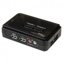 StarTech.com Juego de Conmutador KVM de 2 puertos con todo incluido - USB - Audio y Vídeo VGA - conmutador KVM / audio - 2 puertos
