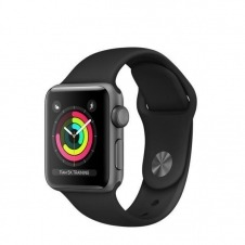APPLEWATCH S3 GPS 38MM SPACE ACCSGREY ALUM CASE BLACK IN