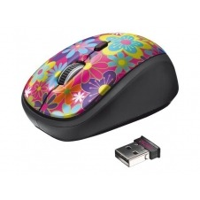 Trust Yvi - ratón - 2.4 GHz - poder de las flores
