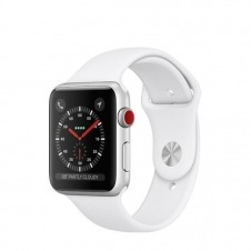 APPLEWATCH S3 GPS+CELL 38MM ACCSSILVER ALUM CASE WHITE IN