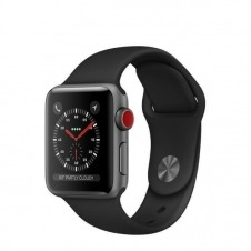 APPLEWATCH S3 GPS+CELL 38MM ACCSSPACE GREY ALUM CASE BLACK IN