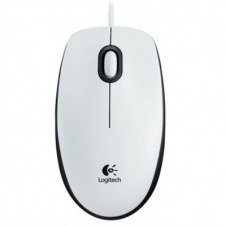 Logitech B100 - ratón - USB - blanco