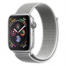 APPLEWATCH S4 GPS 40MM SILVER ACCSALUM CASE SEASHELL SPORT LOOP IN