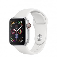 APPLEWATCH S4 GPS+CELL 44MM ACCSSILVER ALUM CASE WHITE IN