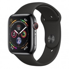 APPLEWATCH S4 GPS+CELL 44MM ACCSSTNLESS STEEL CASE BLACK IN