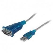 StarTech.com Cable Adaptador USB a Serie RS232 de 1 Puerto Serial DB9 - Macho a Macho - adaptador serie