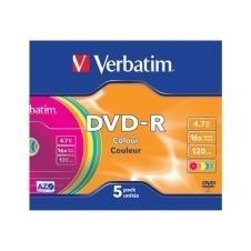 Verbatim Colours - DVD-R x 5 - 4.7 GB - soportes de almacenamiento