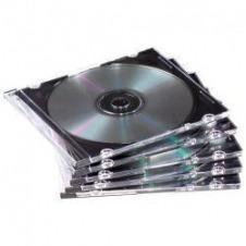Fellowes NEATO caja de plástico delgada para guardar discos compactos