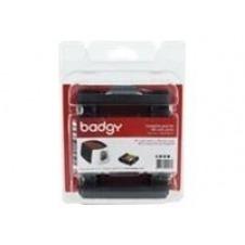 Badgy Full kit - color (cián, magenta, amarillo, negro, superpuesto) - cassette de cinta de impresión / kit de tarjetas de PVC