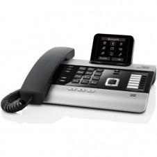 Gigaset DX800A all in one - teléfono con cable / teléfono VoIP / teléfono RDSI - sistema de respuesta con ID de llamadas/llamada en espera