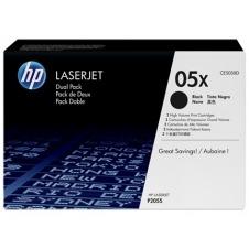 HP Pack ahorro 2 tóner HP05X alta capacidad negro (CE505XD)