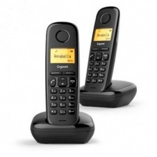 TELEFONO FIJO INALAMBRICO GIGASET A170 DUO NEGRO
