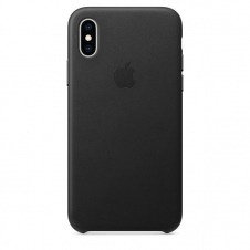 IPHONE XS LEATHER BLACK