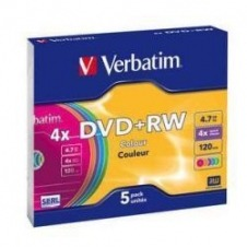 DVD RW 4.7 4X PACK 5 SLIM VERBATIM