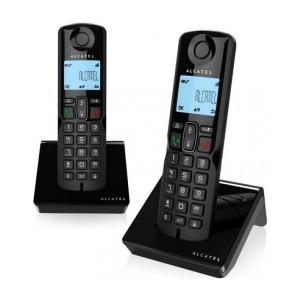 Teléfono Inalámbrico Alcatel S250DUO DECT Negro (2 Pcs)