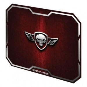 ALFOMBRILLA SPIRIT OF GAMER RED WINGED SKULL M - 29.6*23.6CM - TEXTURA ULTRAFINA - BASE ANTIDESLIZANTE