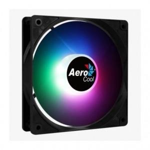 VENTILADOR AEROCOOL FROST RGB - 12CM - LED RGB FIJO - ASPAS CURVADAS - MOLEX/3 PIN