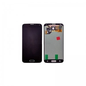 Pant. Tactil + LCD + Marco Compatible Samsung Galaxy S5 Negro