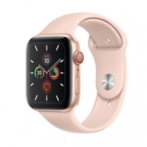 Apple Watch Series 5 GPS 44mm + Cellular Aluminio Dorado con Correa Deportiva Rosa Arena