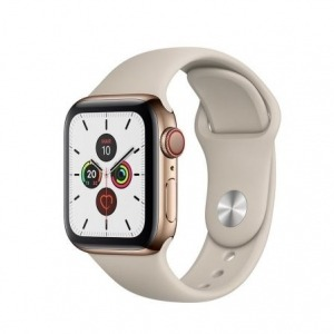 Apple Watch Series 5 GPS 40mm + Cellular Acero Inoxidable Dorado con Correa Deportiva Piedra