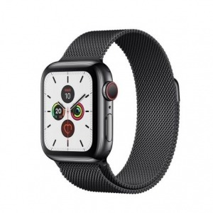 Apple Watch Series 5 GPS 40mm + Cellular Acero Inoxidable Negro Espacial con Correa Deportiva Negra