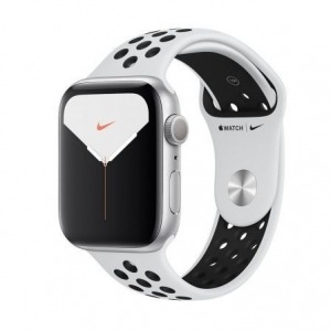 Apple Watch Nike Series 5 GPS 44mm Aluminio Gris con Correa Deportiva Pure Platinum/Negra