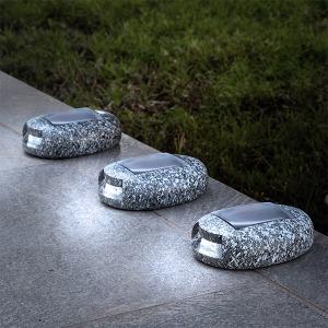 Piedra Solar LED Garden (Pack de 3)