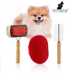Set de Cepillos para Perros Collection Pet Prior (3 Piezas)