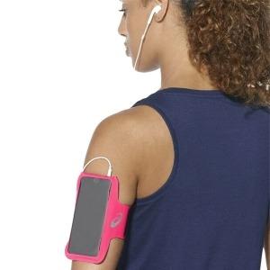 Brazalete Deportivo con Salida para Auriculares Asics MP3 Arm Tube Rosa