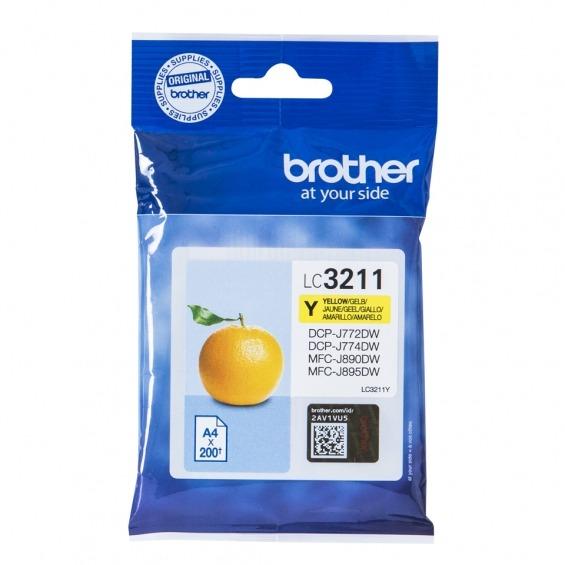 BROTHER LC3211Y AMARILLO ORIGINAL CARTUCHO DE TINTA PARA BROTHER DCP-J772DW, DCP-J774DW, MFC-J890DN, MFC-J890DW, MFC-J890DWN, MFC-J895DW