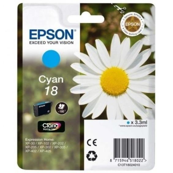 TINTA ORIGINAL EPSON T1802 CYAN