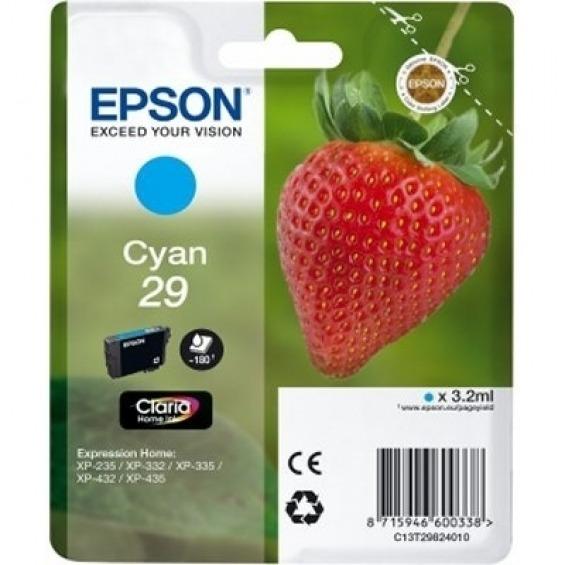 EPSON TINTA ORIGINAL Nº29 CYAN PARA Expression Home XP-235/ XP-332/ XP-335/ XP-432/ XP-435