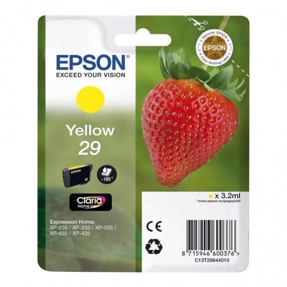 EPSON TINTA ORIGINAL T2984 YELLOW PARA XP235/332/432