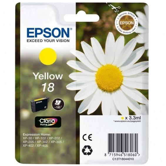 EPSON TINTA ORIGINAL T1804 YELLOW PARA Epson Expression Home XP-102 / XP-202/XP-205 / XP-30/ XP-30