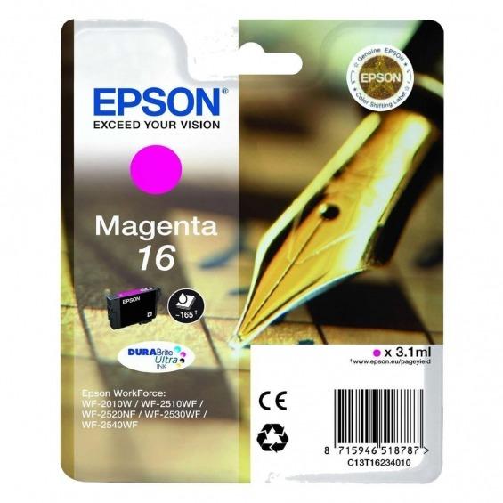 EPSON TINTA ORIGINAL T1623 MAGENTA PARA WF-2010W/WF-2510WF/WF-2520NF