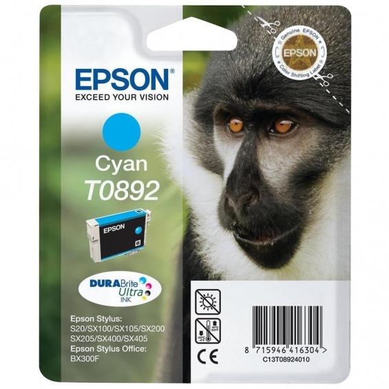 TINTA ORIGINAL EPSON T0892 CYAN PARA Epson Stylus SX100 ,SX110 ,SX115,SX200 ,SX205,SX210