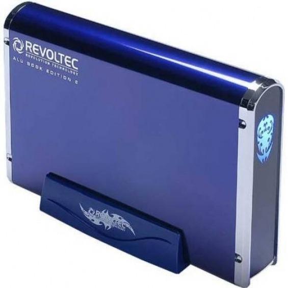 Revoltec Alu Book Edition 2 - caja de almacenamiento - SATA 1.5Gb/s - eSATA, USB 2.0