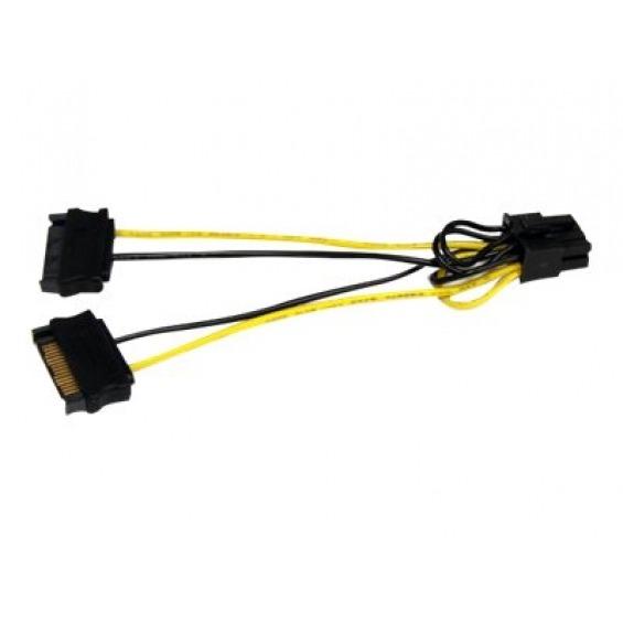 Cable alimentacion 8pin H a Sata M 15cm