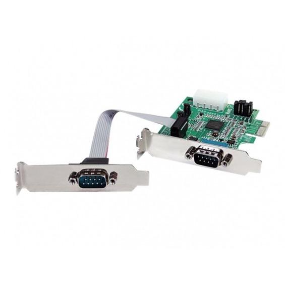 Tarjeta puertos serie Startech 2xRS232 PEX2S952LP