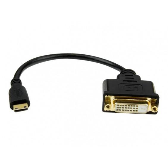 StarTech.com Adaptador Cable Conversor de 20cm Mini HDMI a DVI-D - adaptador de vídeo - HDMI/DVI - 20.32 cm