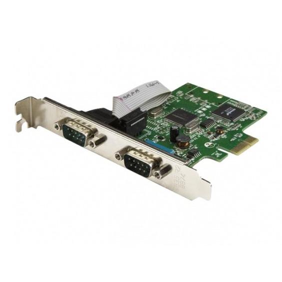 StarTech.com Tarjeta Serie PCI Express de 2 Puertos DB9 RS232 con UART 16C1050 - Adaptador Interno Serie PCI-E de 2 Puertos - adaptador serie