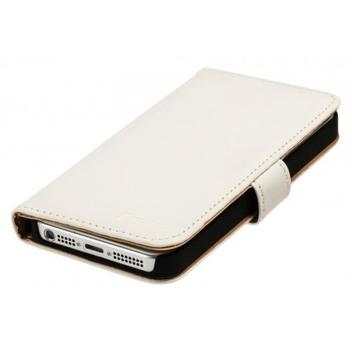 Funda de cartera estilo libro para iPhone 5/5S en blanco