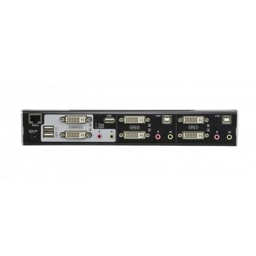 KVM Switch Dual View 2-port DVI-I USB 2.0
