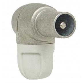 Conector Coaxial Macho PVC Blanco