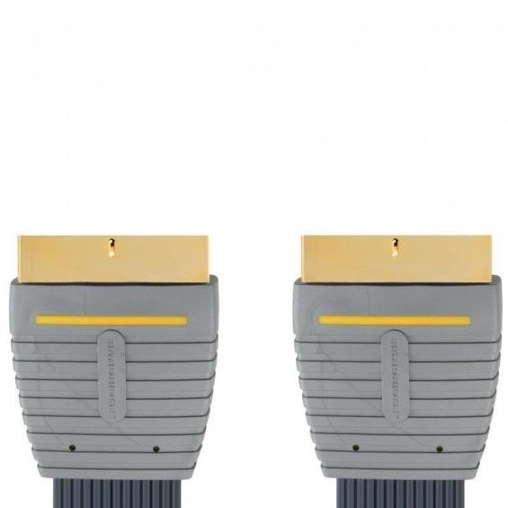 Cable de Audio Vídeo SCART Plano 5.0 m