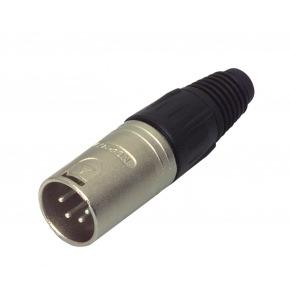 Conector XLR Macho Metal Plata