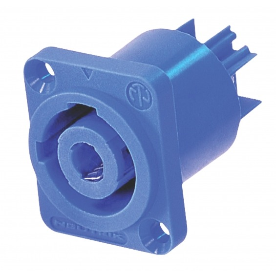 Conector Speaker Hembra PVC Azul
