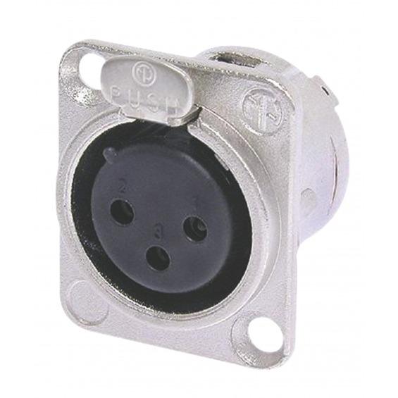 Conector XLR Hembra Metal Plata