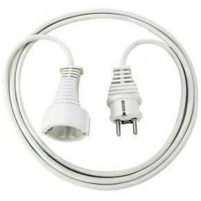 Cable de plástico 2m blanco H05VV-F 3G1,5